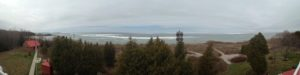 panoramic of fogsignal and ice